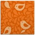 rug #584685 | square red-orange animal rug