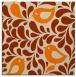 rug #584741 | square orange natural rug