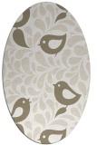 rug #584777 | oval beige natural rug