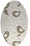 rug #584777 | oval white natural rug