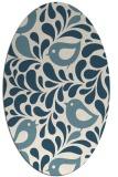 rug #584801 | oval white animal rug