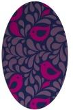 rug #584805   oval pink animal rug