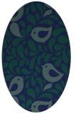 rug #584809 | oval blue animal rug
