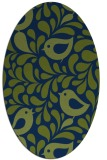 rug #584813 | oval blue animal rug