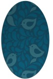 rug #584825 | oval blue-green natural rug