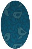 rug #584825 | oval blue-green rug