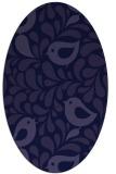 rug #584861 | oval blue-violet animal rug