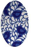 rug #584881   oval blue-violet animal rug
