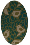 rug #584897 | oval mid-brown natural rug
