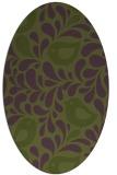 rug #584913 | oval green animal rug