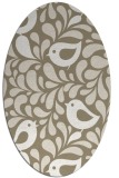 rug #584917 | oval white natural rug