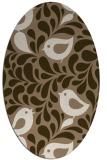 rug #584929 | oval beige natural rug