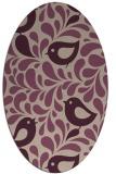 rug #584933 | oval pink rug
