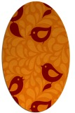 rug #584965 | oval red-orange animal rug
