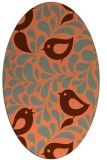 rug #584977 | oval red-orange animal rug