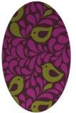 rug #585005 | oval purple rug
