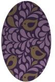 rug #585009 | oval purple animal rug