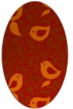 rug #585021 | oval red animal rug