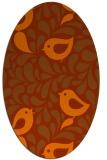 rug #585033 | oval red-orange animal rug