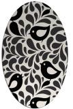 rug #585049 | oval white animal rug