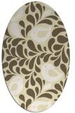 rug #585069   oval yellow animal rug