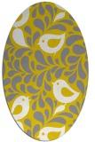 rug #585077 | oval white animal rug
