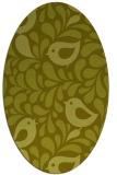 rug #585097 | oval light-green animal rug