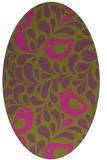 rug #585105 | oval pink animal rug