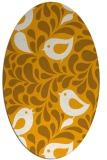 rug #585113 | oval light-orange animal rug