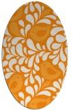 rug #585121 | oval light-orange animal rug