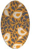 rug #585125 | oval light-orange animal rug