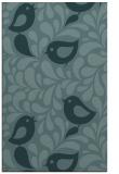 rug #585201    blue-green animal rug