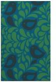 rug #585209 |  blue-green natural rug