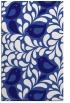 rug #585233 |  blue-violet animal rug