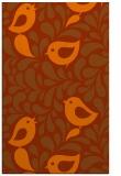 rug #585385 |  red-orange animal rug