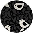 rug #585485 | round black rug