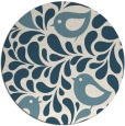 rug #585505   round blue-green animal rug