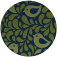 rug #585517   round blue animal rug