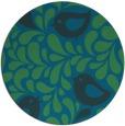 rug #585561 | round blue-green natural rug