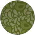 rug #585605 | round green animal rug