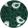 rug #585613 | round blue-green animal rug