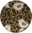 rug #585633 | round mid-brown natural rug