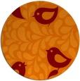 rug #585669 | round red-orange natural rug