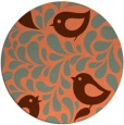 rug #585681 | round red-orange rug