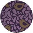 rug #585713 | round purple natural rug