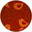 rug #585725   round red animal rug