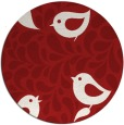 rug #585729 | round red animal rug