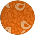 rug #585741 | round red-orange animal rug