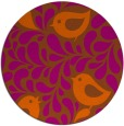 rug #585745 | round red-orange natural rug