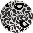 rug #585753 | round black natural rug
